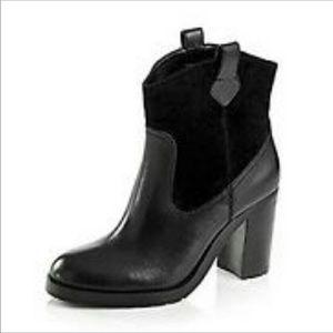 Ralph Lauren Devyn Leather Ankle Boots size 10